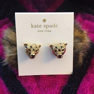 Kate Spade Leopard Reversible Furry Earrings